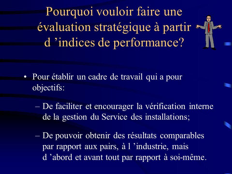 Pour établir un cadre de travail qui a pour objectifs: –De faciliter et encourager la vérification interne de la gestion du Service des installations;