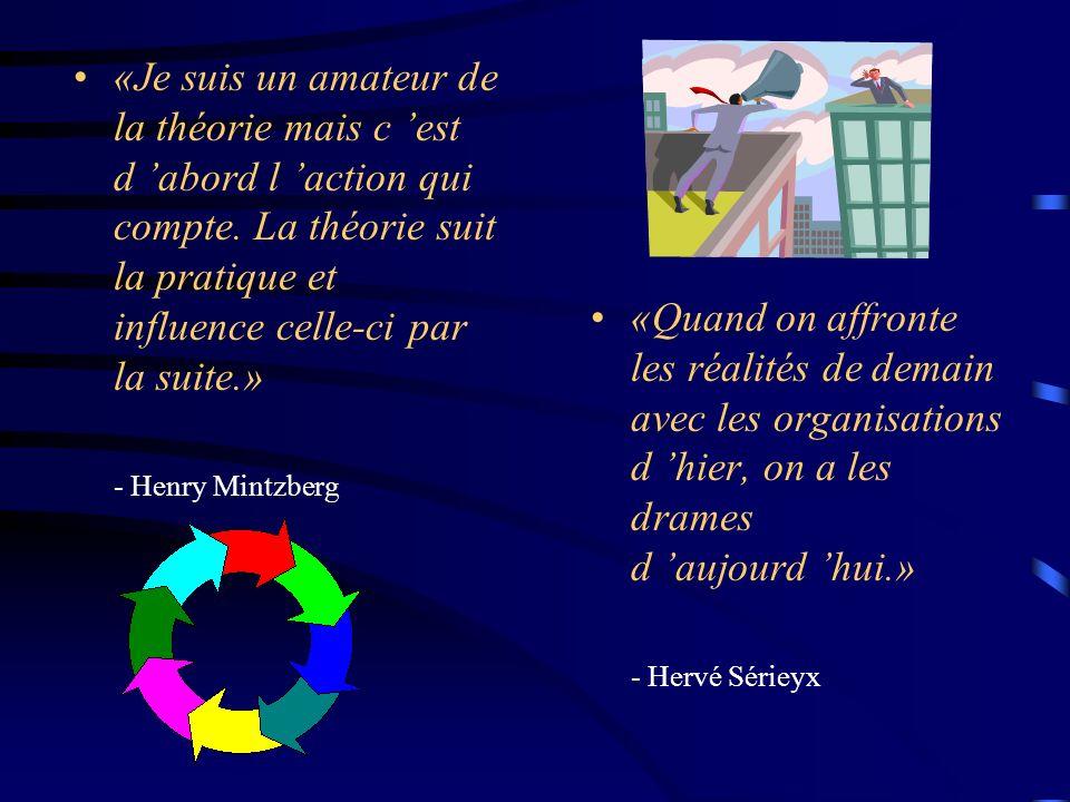 «Je suis un amateur de la théorie mais c est d abord l action qui compte. La théorie suit la pratique et influence celle-ci par la suite.» - Henry Min