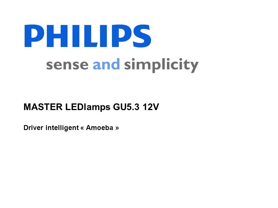 MASTER LEDlamps GU5.3 12V Driver intelligent « Amoeba »