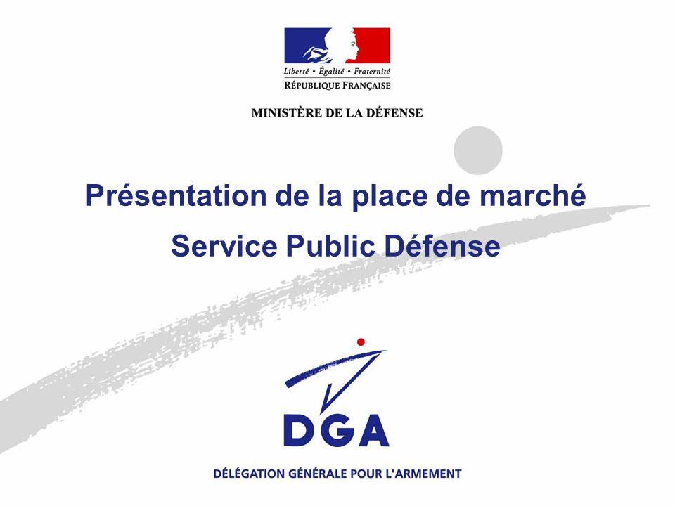 Présentation de la place de marché Service Public Défense