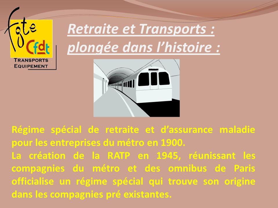 Retraite et Transports : plongée dans lhistoire : Régime spécial de retraite et dassurance maladie pour les entreprises du métro en 1900. La création