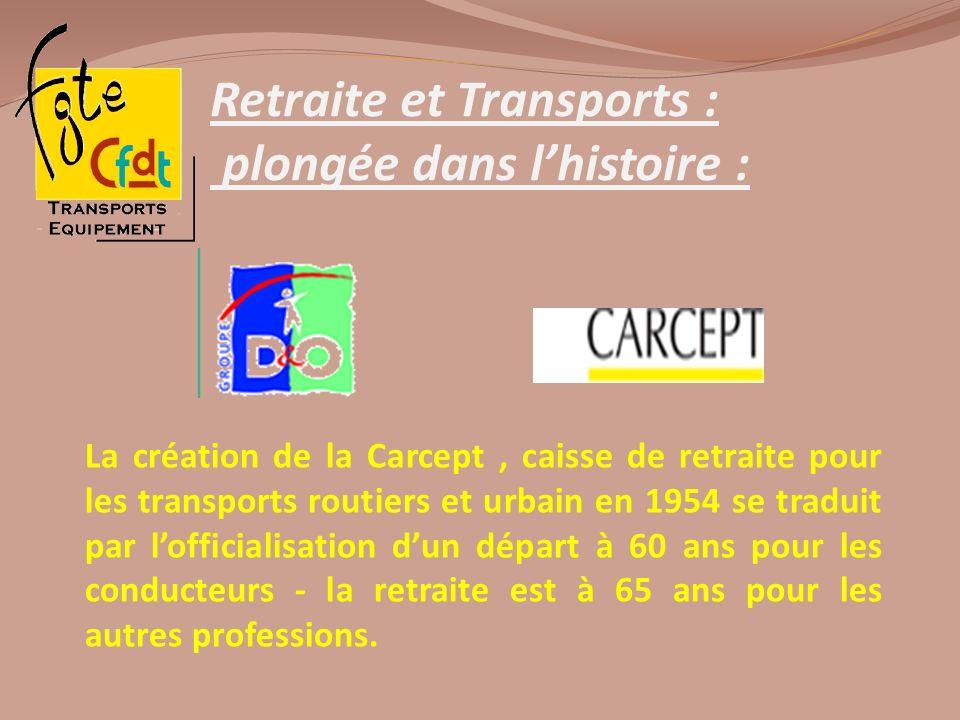 Retraite et Transports : plongée dans lhistoire : La création de la Carcept, caisse de retraite pour les transports routiers et urbain en 1954 se trad