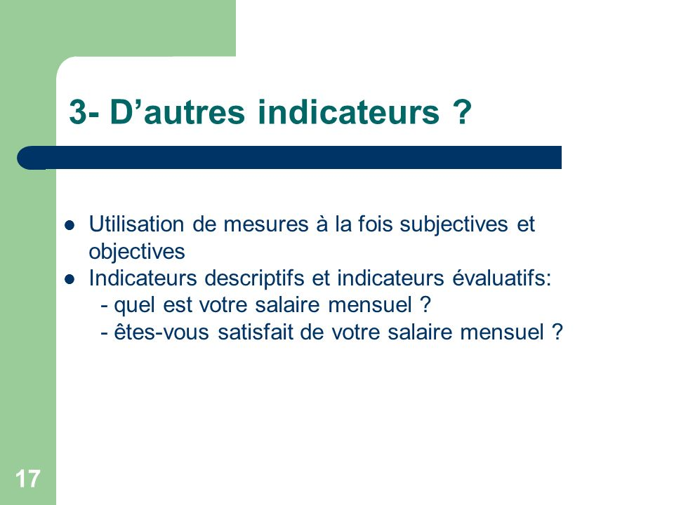 17 3- Dautres indicateurs .