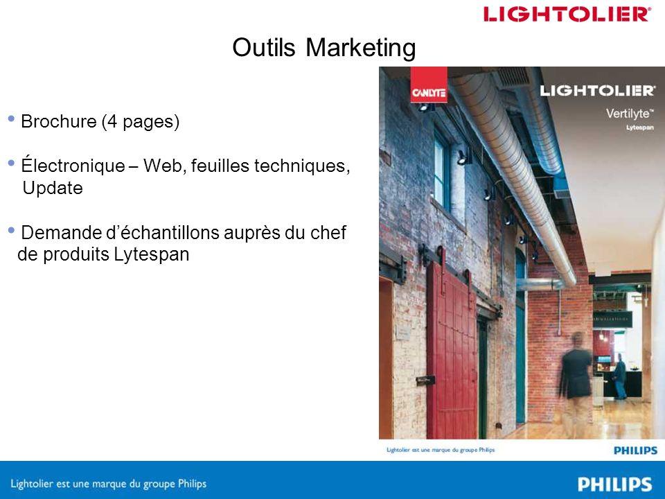 Brochure (4 pages) Électronique – Web, feuilles techniques, Update Demande déchantillons auprès du chef de produits Lytespan Outils Marketing