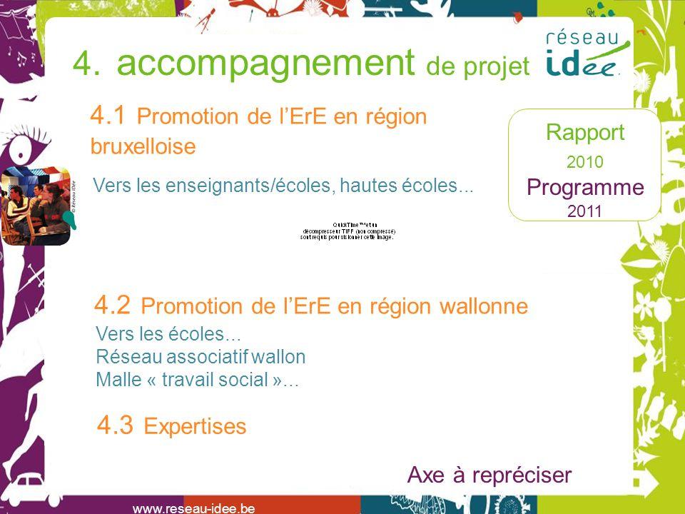 Rapport 2010 Programme 2011 www.reseau-idee.be 4.