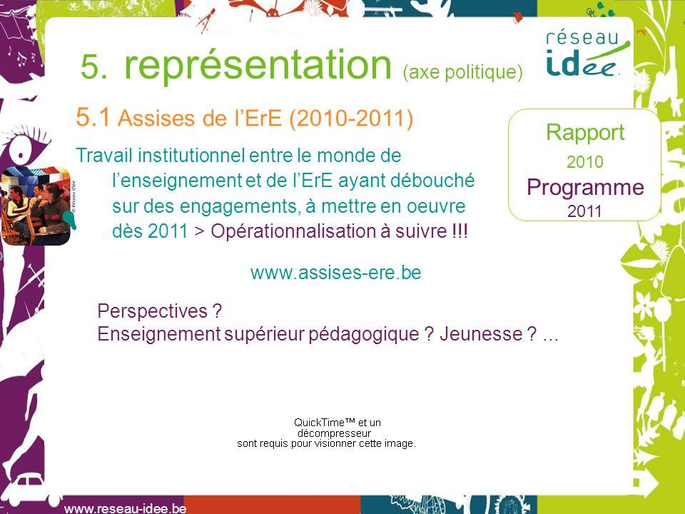 Rapport 2010 Programme 2011 5.