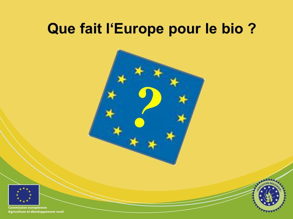 2 ? Que fait lEurope pour le bio ?