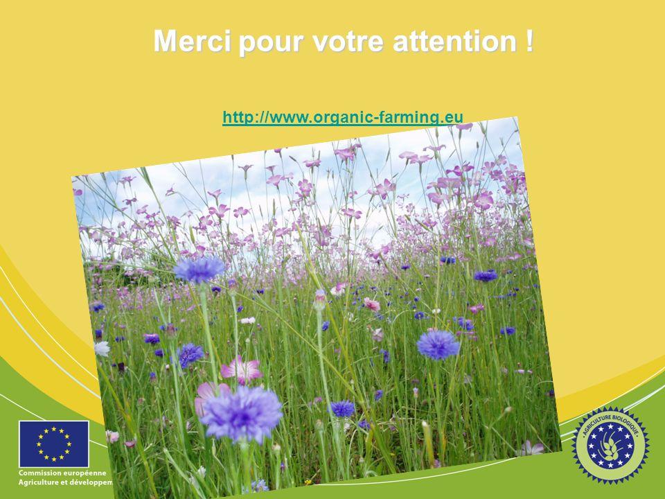 Merci pour votre attention ! http://www.organic-farming.eu