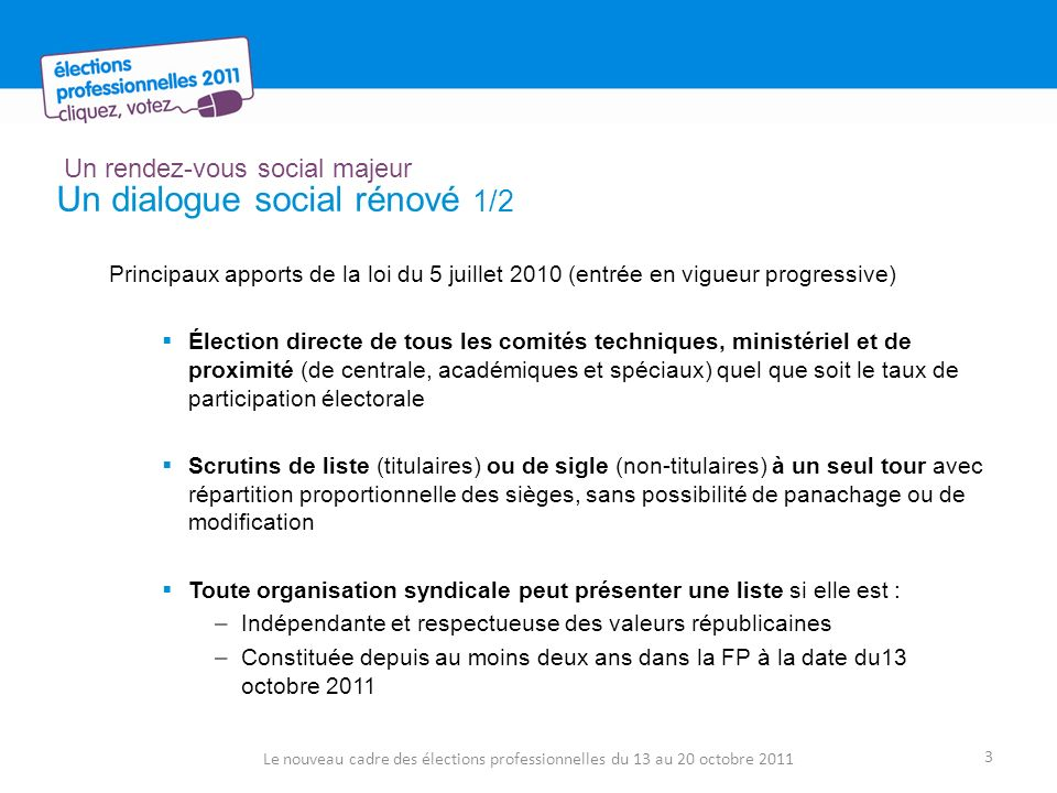 Lorganisation des élections en 2011 Comment voter .