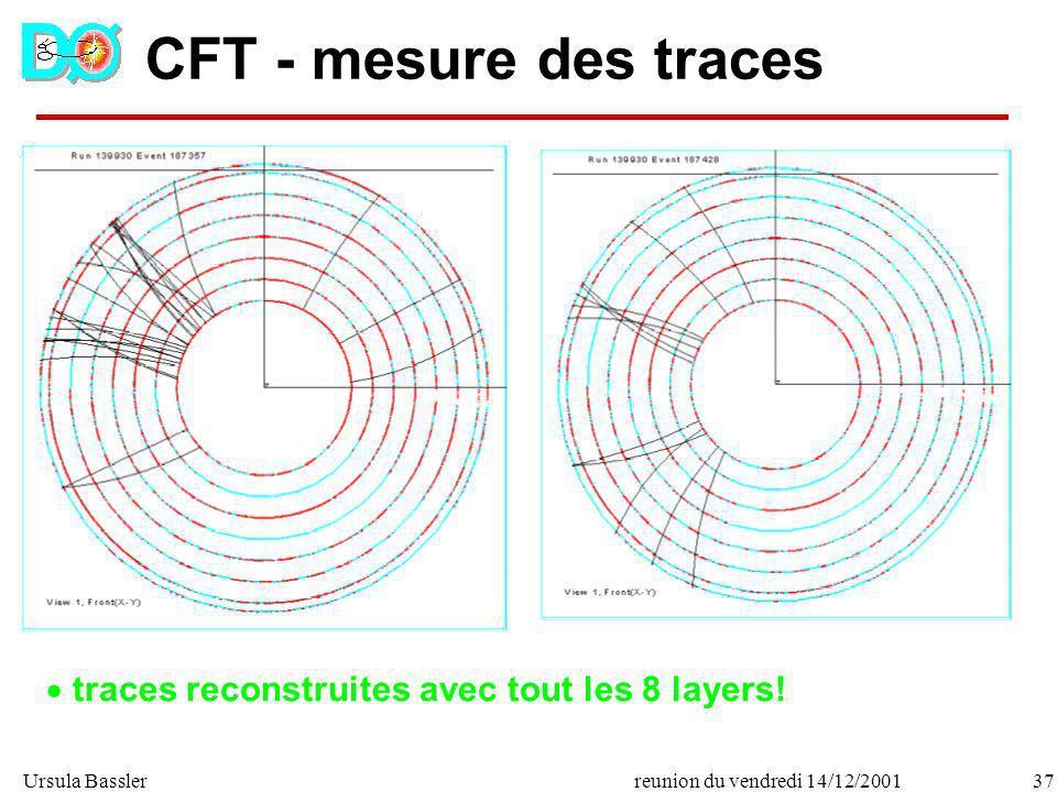 Ursula Bassler37reunion du vendredi 14/12/2001 CFT - mesure des traces traces reconstruites avec tout les 8 layers!