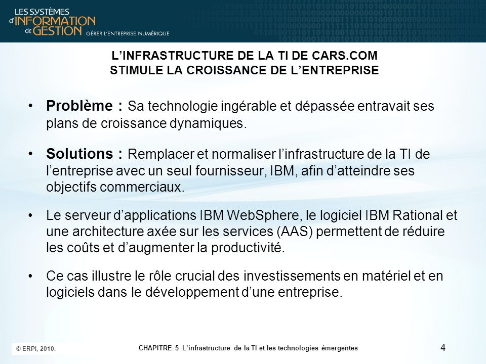 Les tendances actuelles dans les plateformes logicielles 25 © ERPI, 2010.