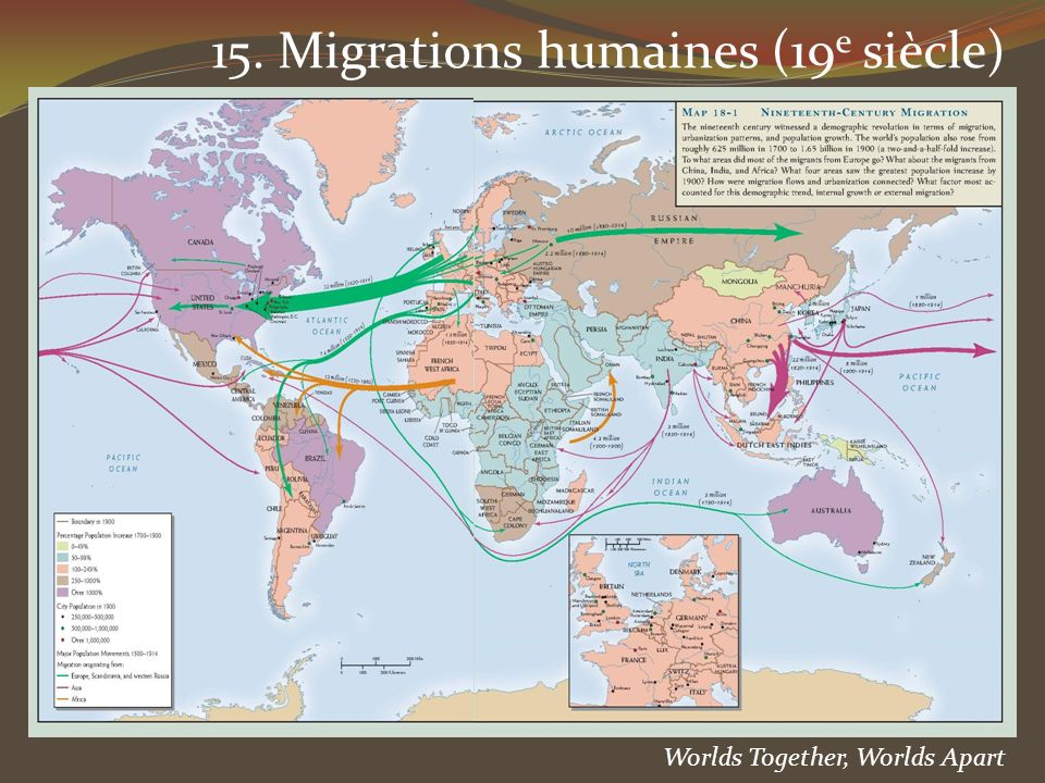 Worlds Together, Worlds Apart 15. Migrations humaines (19 e siècle)