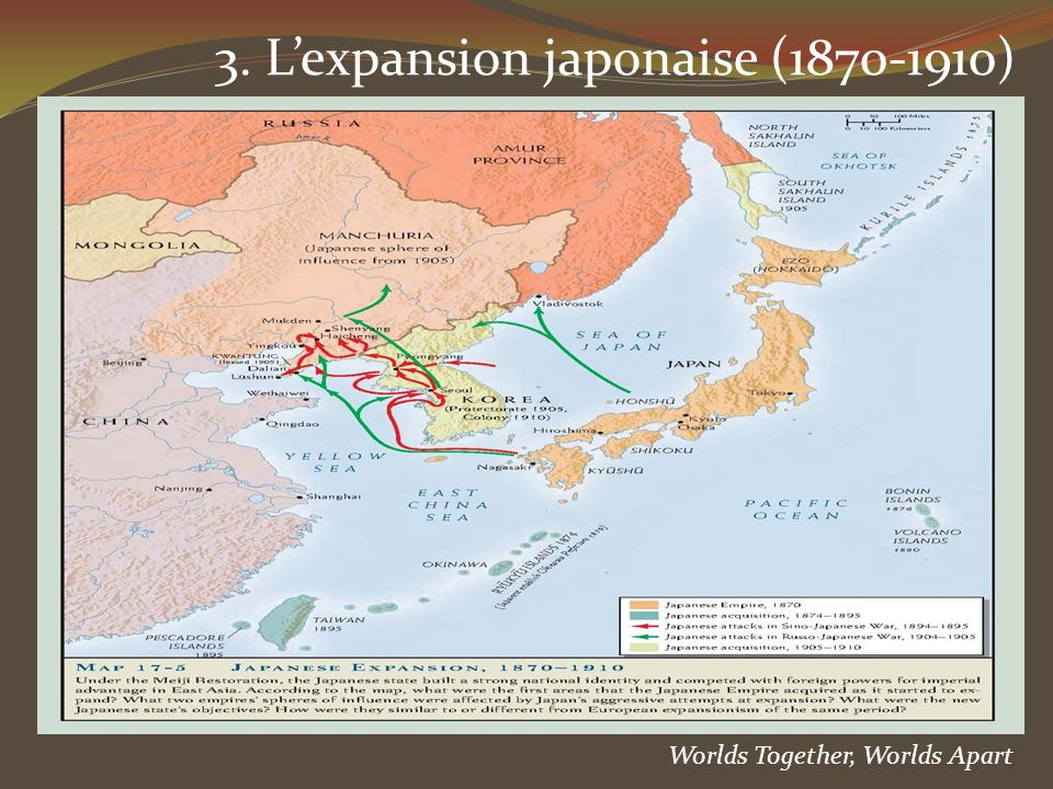 3. Lexpansion japonaise (1870-1910) Worlds Together, Worlds Apart