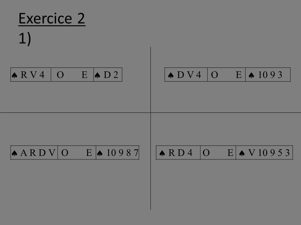 Exercice 2 1) R V 4 O E D 2 D V 4 O E 10 9 3 A R D VO E 10 9 8 7 R D 4O E V 10 9 5 3