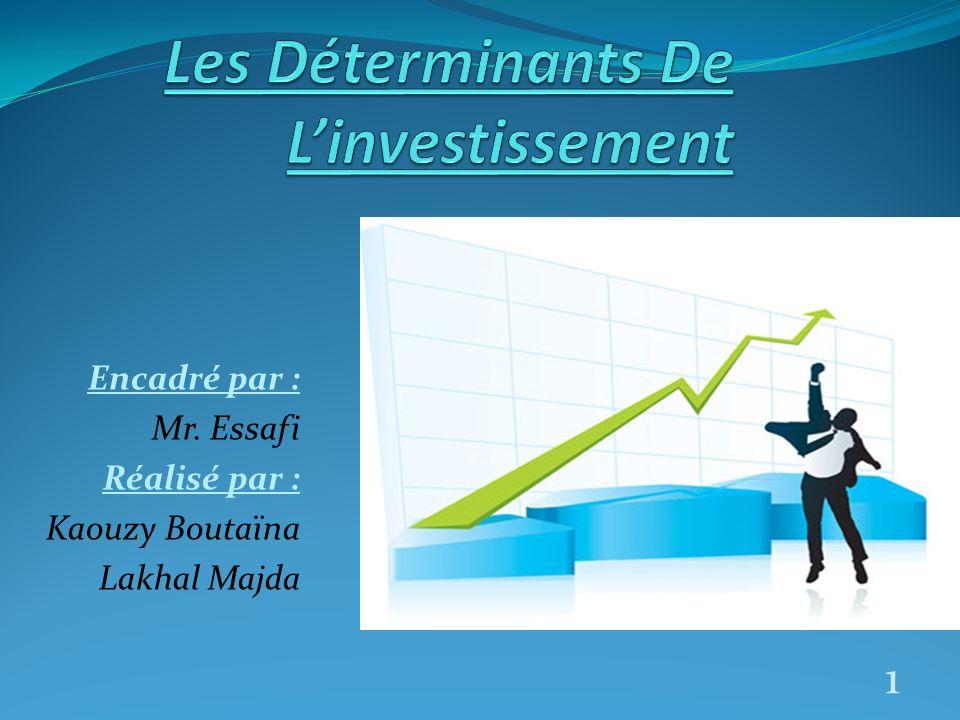 La croissance dépend doublement de l investissement.