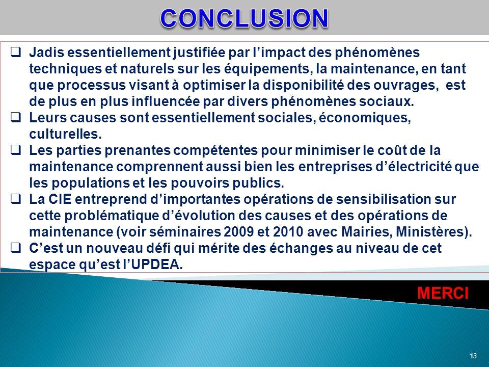 13 Jadis essentiellement justifiée par limpact des phénomènes techniques et naturels sur les équipements, la maintenance, en tant que processus visant