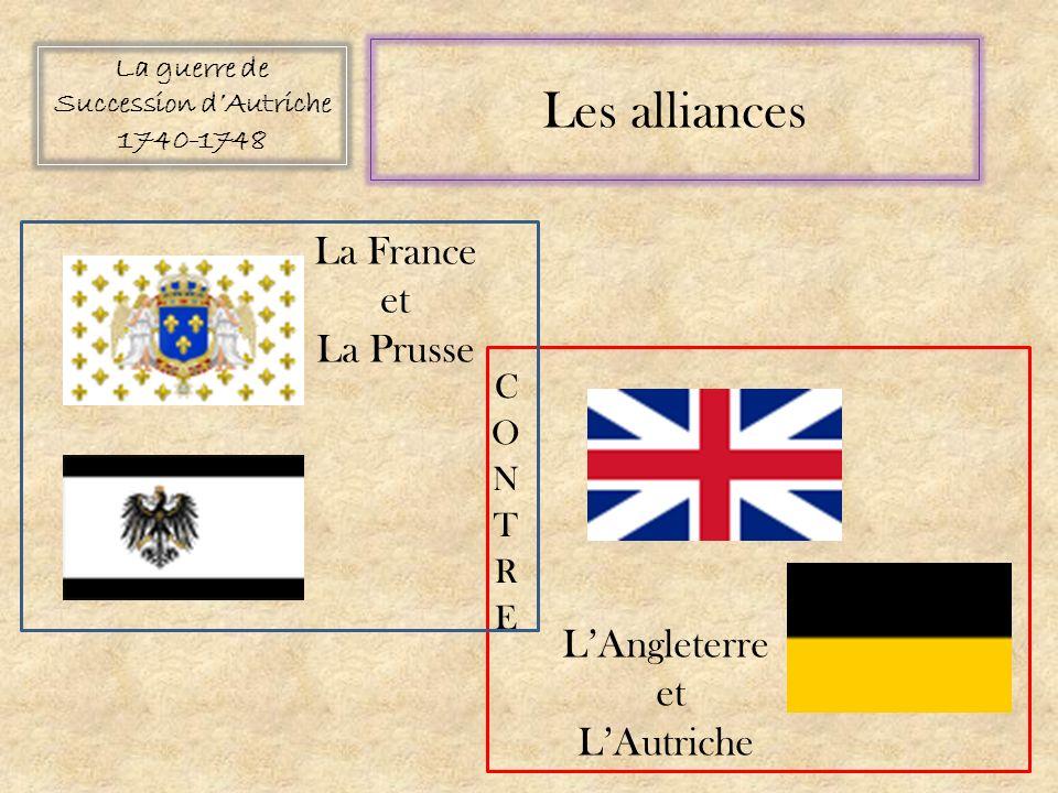 La guerre de Succession dAutriche 1740-1748 Les alliances La France et La Prusse LAngleterre et LAutriche