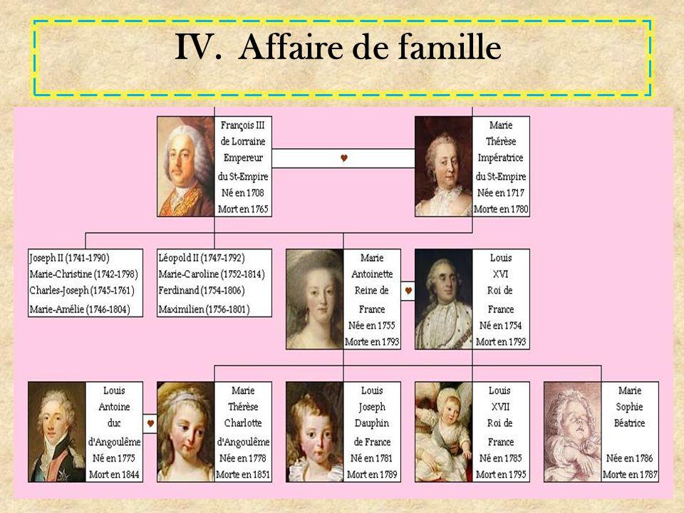 IV.Affaire de famille