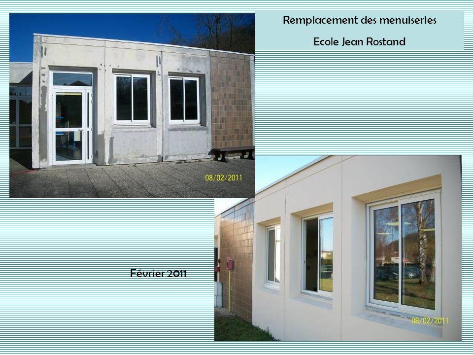 Remplacement des menuiseries Ecole Jean Rostand Février 2011