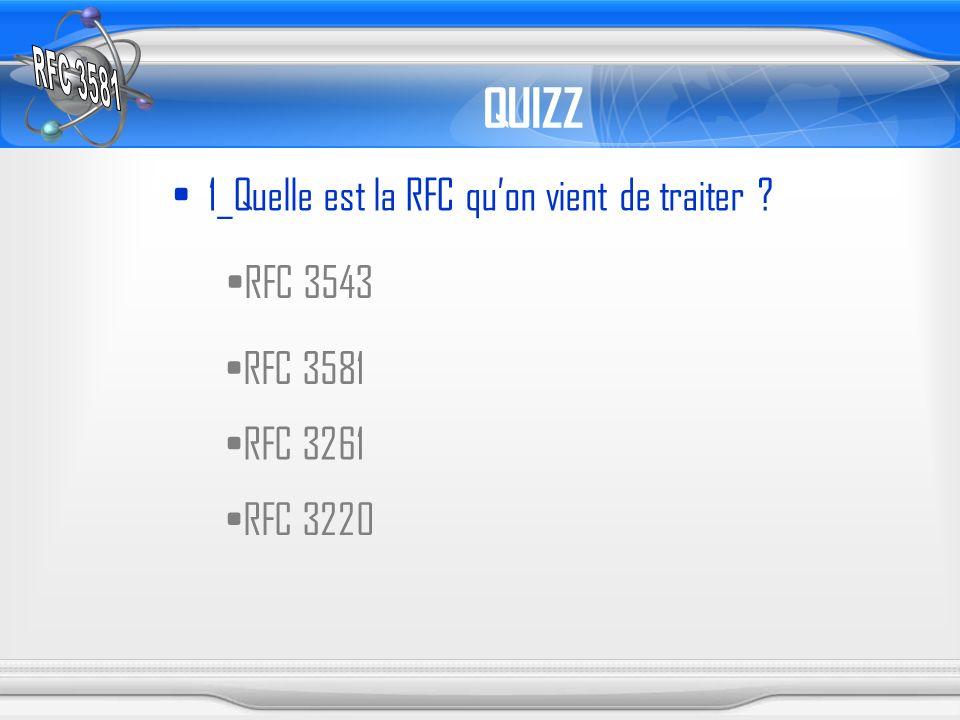 QUIZZ 1_Quelle est la RFC quon vient de traiter ? RFC 3543 RFC 3581 RFC 3261 RFC 3220