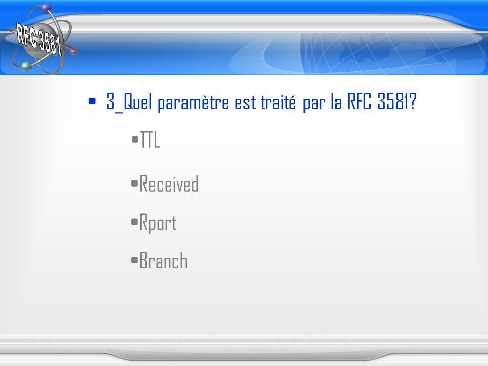 3_Quel paramètre est traité par la RFC 3581? TTL Received Rport Branch