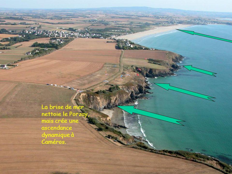 7 2005 www.vol-libre-menez-hom.com La brise de mer nettoie le Porzay, mais crée une ascendance dynamique à Caméros.