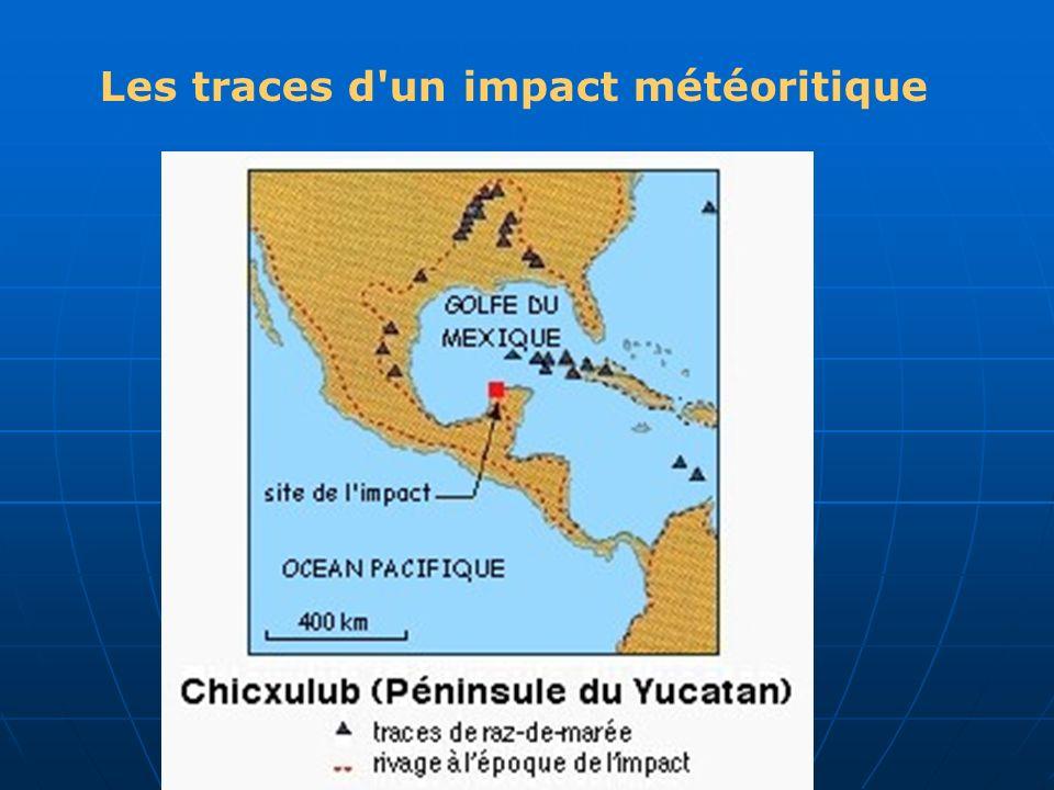 Les traces d'un impact météoritique