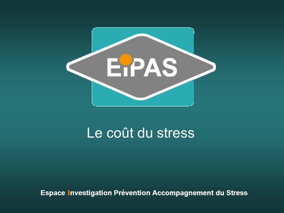 Le coût du stress Espace I nvestigation Prévention Accompagnement du Stress