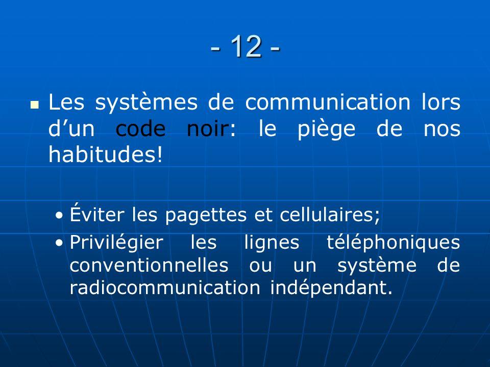 - 11 - Démarches psychosociales et rencontres post-événement: UNE NÉCESSITÉ