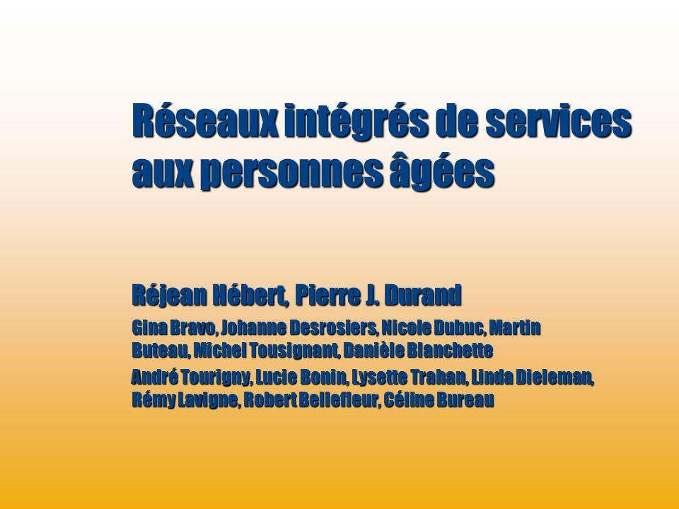 Programme de recherche sur lintégration des services de maintien de lautonomie