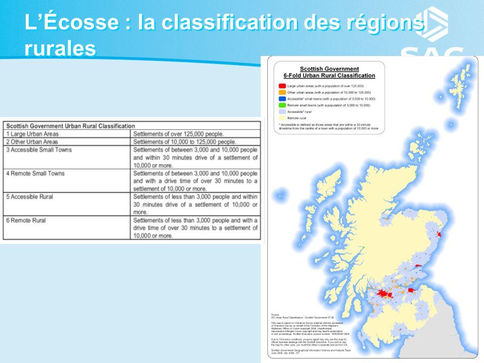 25 LÉcosse : la classification des régions rurales
