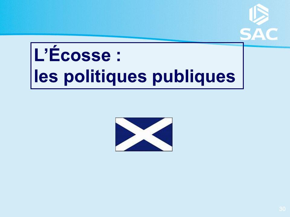 30 LÉcosse : les politiques publiques