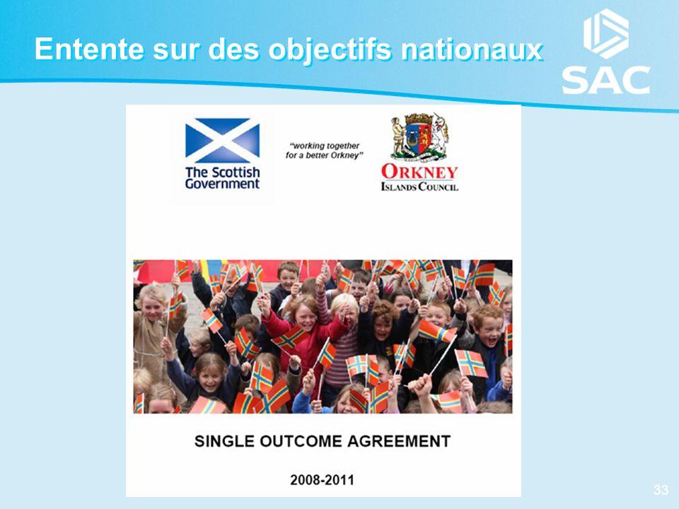 33 Entente sur des objectifs nationaux