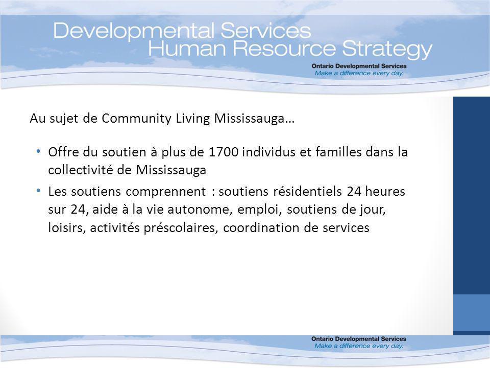 Au sujet de Community Living Mississauga… Offre du soutien à plus de 1700 individus et familles dans la collectivité de Mississauga Les soutiens comprennent : soutiens résidentiels 24 heures sur 24, aide à la vie autonome, emploi, soutiens de jour, loisirs, activités préscolaires, coordination de services