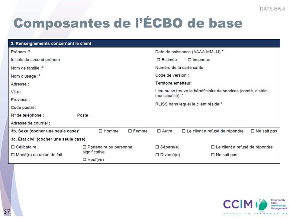 37 Composantes de lÉCBO de base DATE-BR-4