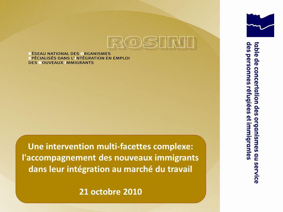 Une intervention multi-facettes complexe: l accompagnement des nouveaux immigrants dans leur intégration au marché du travail 21 octobre 2010