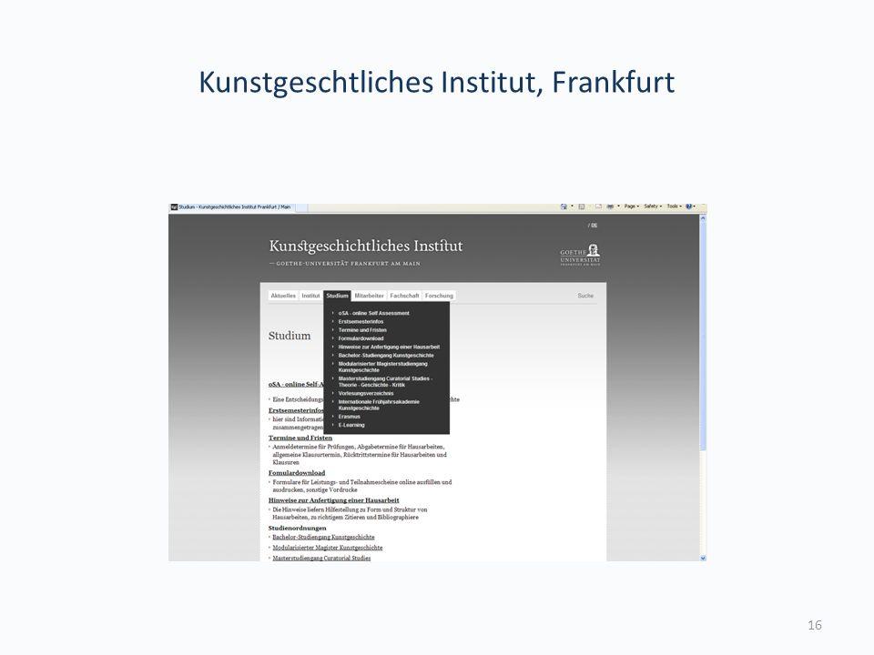 Kunstgeschtliches Institut, Frankfurt 16