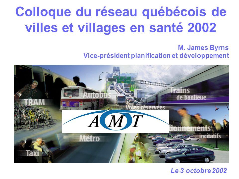 Colloque du réseau québécois de villes et villages en santé 2002 Le 3 octobre 2002 M.