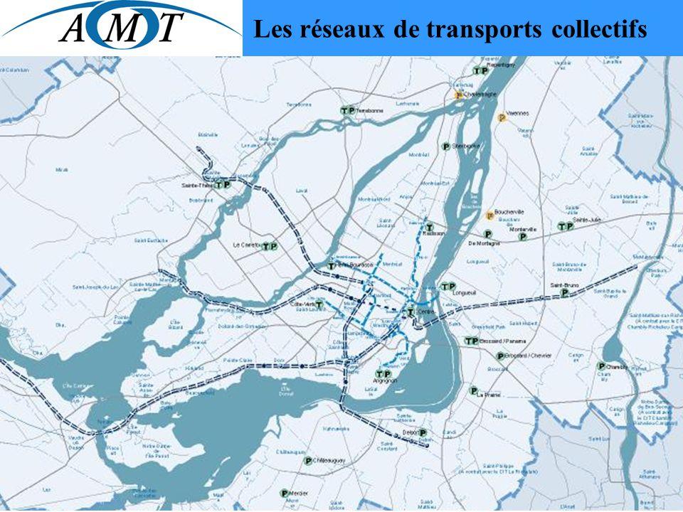 Les réseaux de transports collectifs