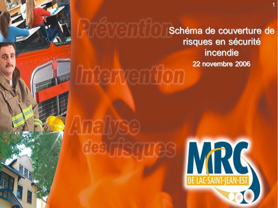 2 Schéma : bénéfices Amélioration de la prévention Amélioration de lintervention Amélioration de la connaissance du territoire (analyse des risques) Pour tout le territoire de la MRC de Lac-Saint-Jean-Est
