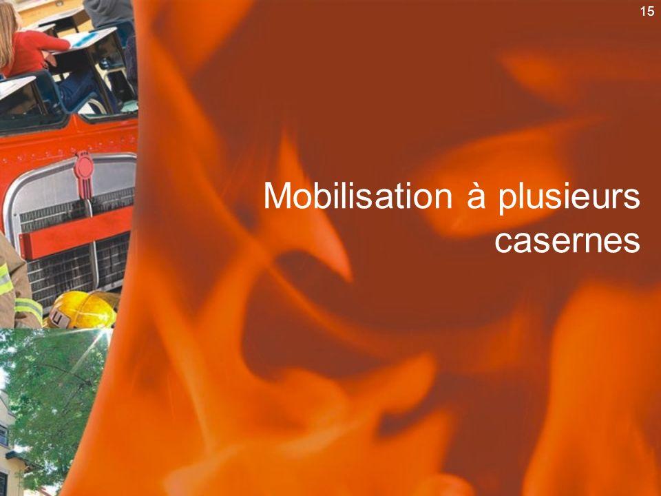 15 Mobilisation à plusieurs casernes