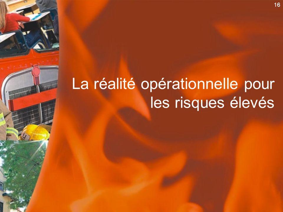 16 La réalité opérationnelle pour les risques élevés