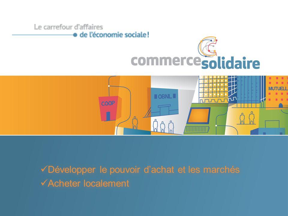 Développer le pouvoir dachat et les marchés Acheter localement Développer le pouvoir dachat et les marchés Acheter localement
