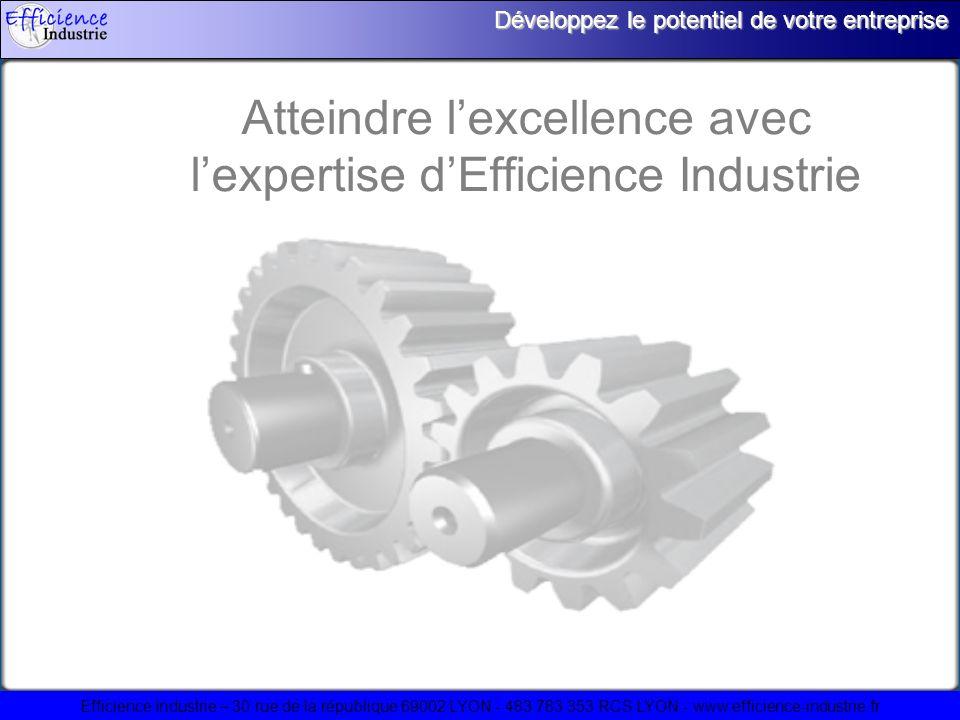 Efficience Industrie – 30 rue de la république 69002 LYON - 483 783 353 RCS LYON - www.efficience-industrie.fr Développez le potentiel de votre entreprise Atteindre lexcellence avec lexpertise dEfficience Industrie