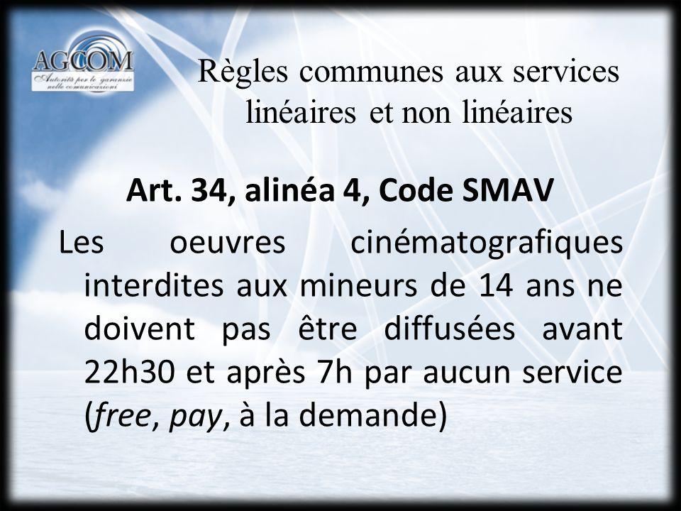 Programmes susceptibles de nuire… art.34, al.