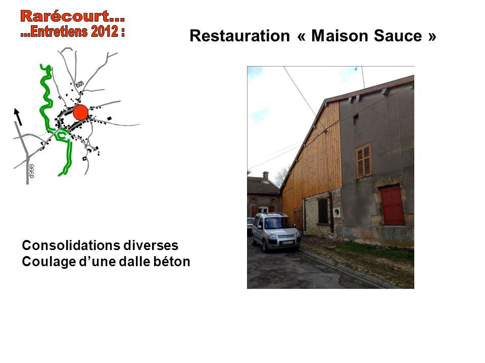 Restauration « Maison Sauce » Consolidations diverses Coulage dune dalle béton