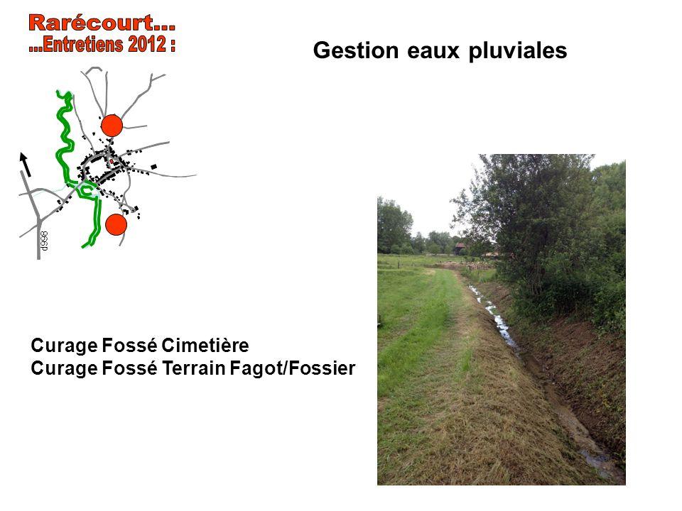Gestion eaux pluviales Curage Fossé Cimetière Curage Fossé Terrain Fagot/Fossier