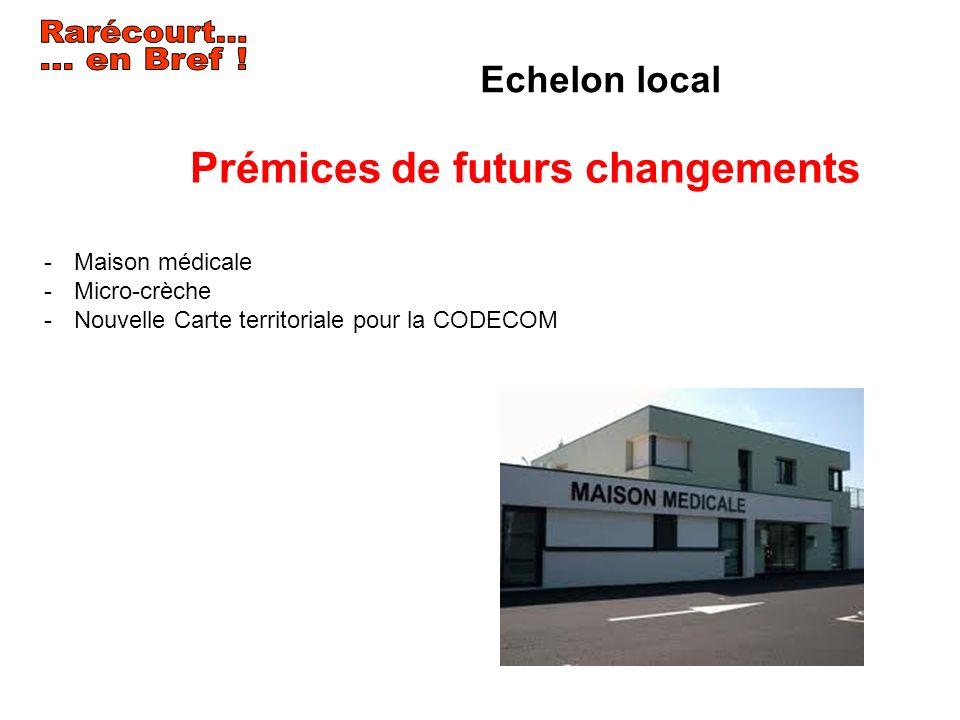 Echelon local -Maison médicale -Micro-crèche -Nouvelle Carte territoriale pour la CODECOM Prémices de futurs changements