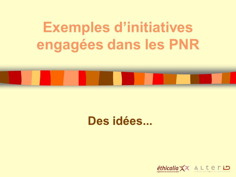 Exemples dinitiatives engagées dans les PNR Des idées...