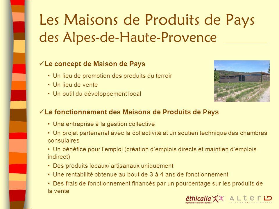 Les Maisons de Produits de Pays des Alpes-de-Haute-Provence Le concept de Maison de Pays Un lieu de promotion des produits du terroir Un lieu de vente